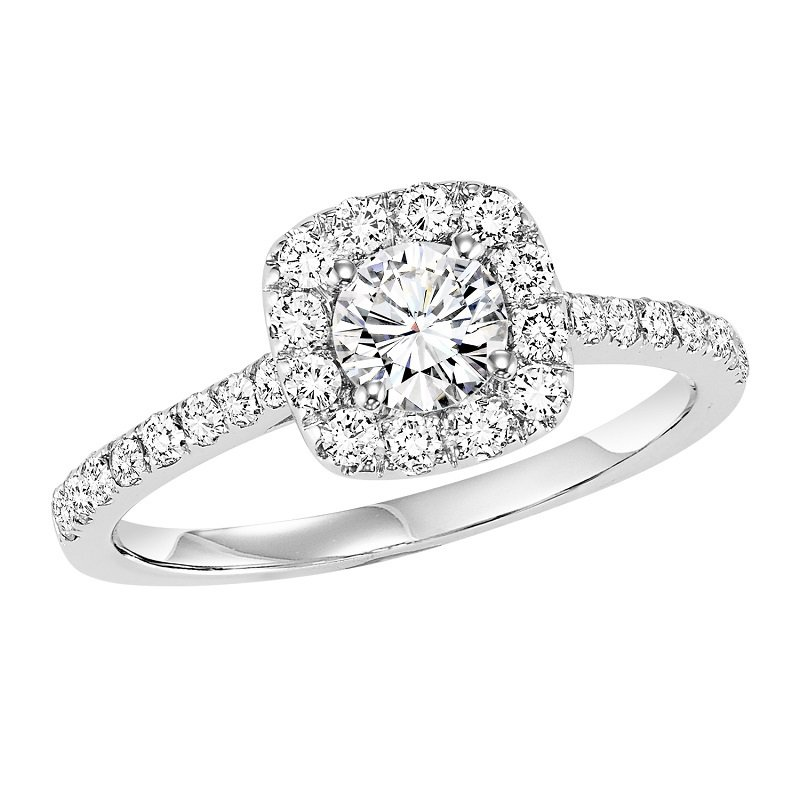 Bridal Bells 14K Diamond Engagement Ring 1/2 ctw With 1/2 ct Center Diamond