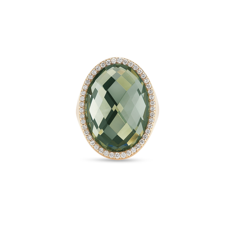 Roberto Coin Ring With Diamonds And Prasiolite