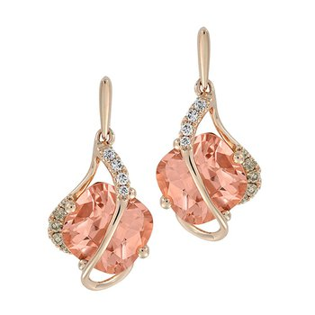 Champagne Sapphire Earrings-CE4253RCS