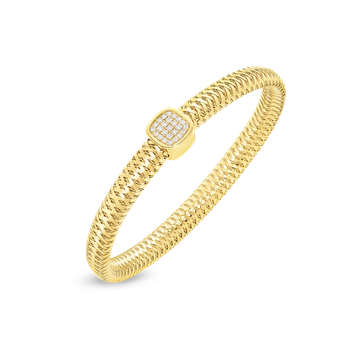 Flexible Bangle With Diamonds