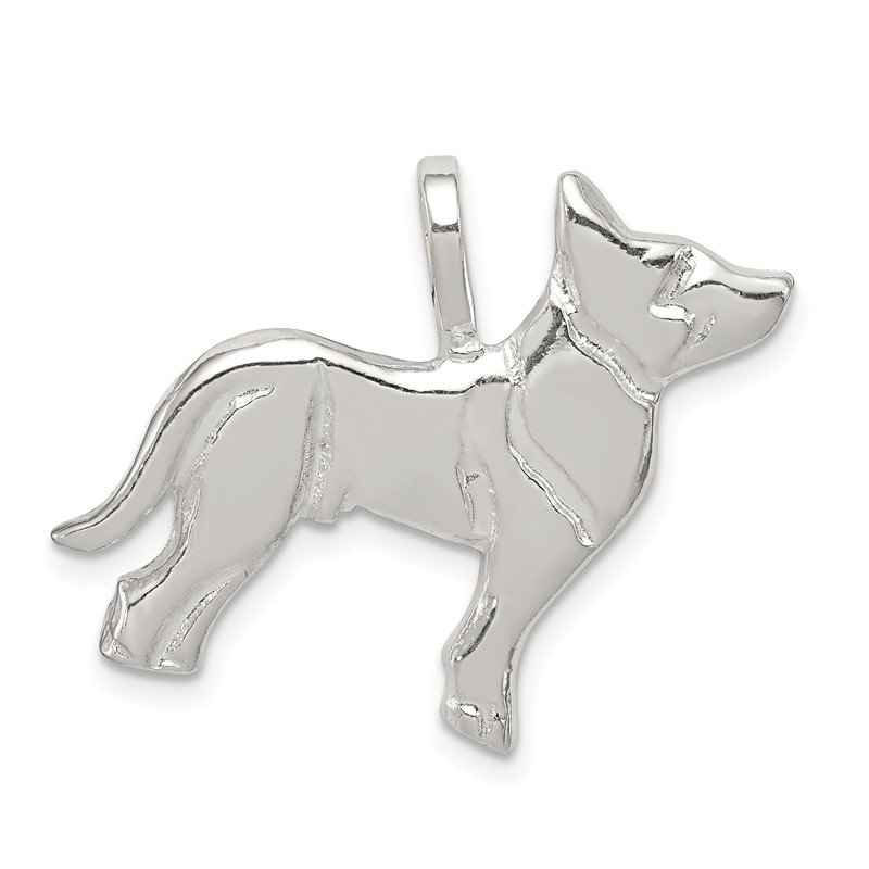 Quality Gold Sterling Silver Dog Charm