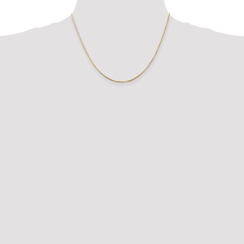 Quality Gold 14k 1.2mm Octagonal Snake Chain