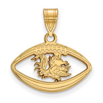 Gold-Plated Sterling Silver University of South Carolina NCAA Pendant