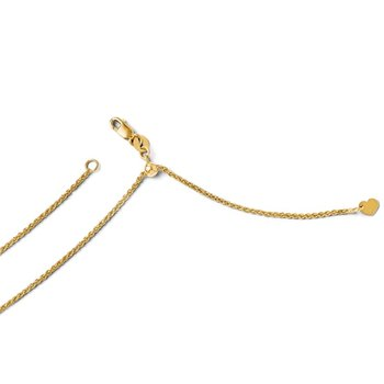 Leslie's 14K Adjustable 1.4mm Wheat Chain