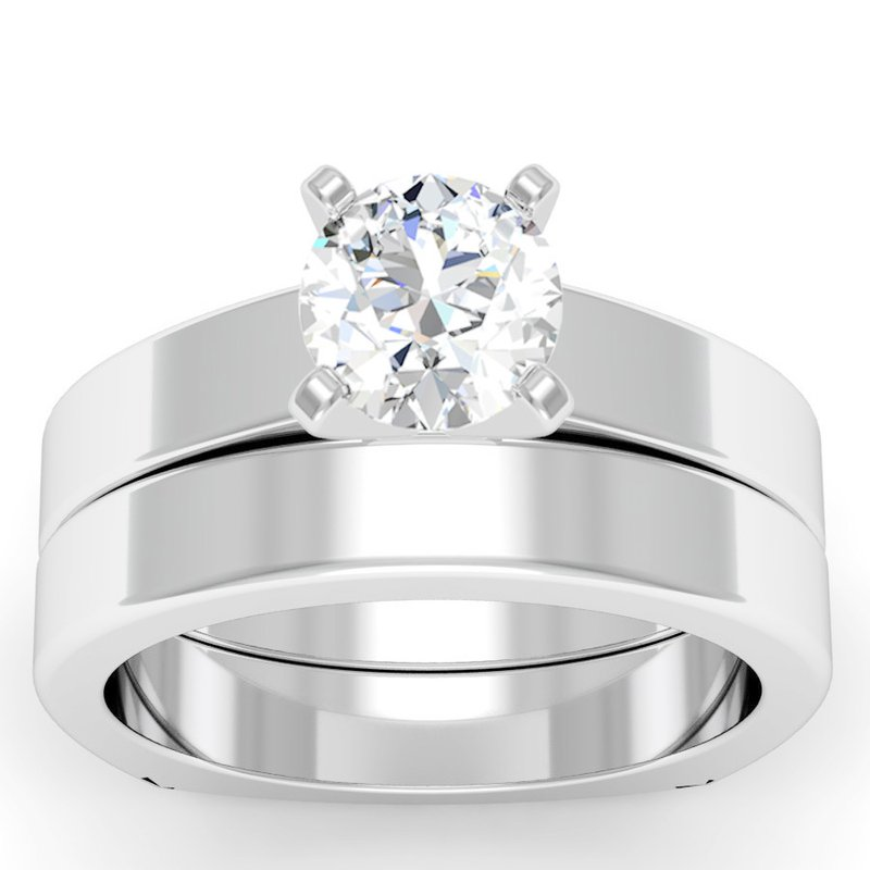 California Coast Designs Squared Wedding Band