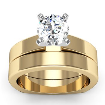Squared Wedding Band