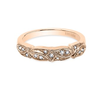 Detailed Botanical Diamond Wedding Band