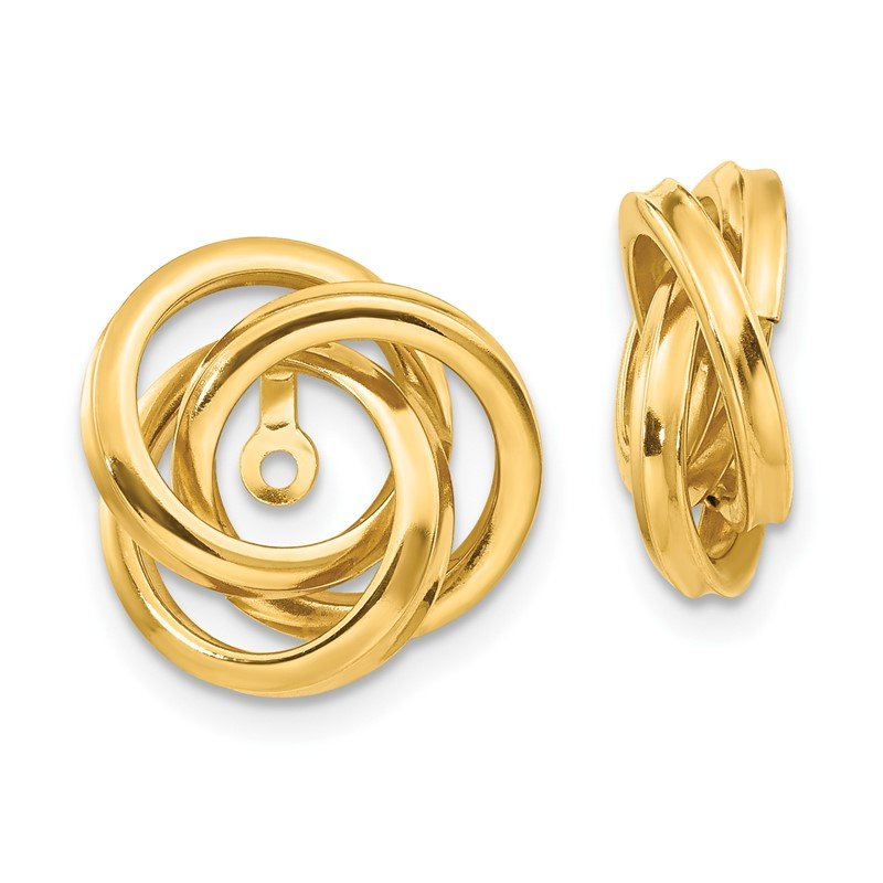 Quality Gold 14k Polished Love Knot Earring Jackets