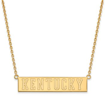 Gold-Plated Sterling Silver University of Kentucky NCAA Necklace