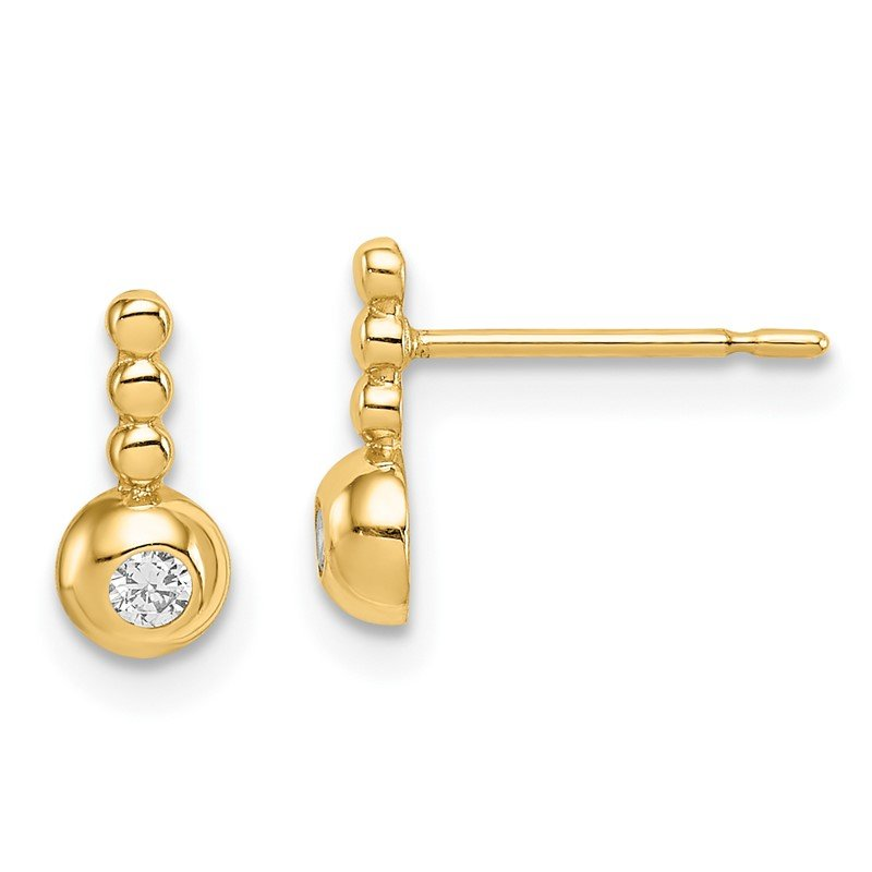 JC Sipe Essentials 14k Madi K Bubble CZ Drop Stud Earrings