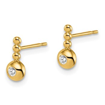 14k Madi K Bubble CZ Drop Stud Earrings