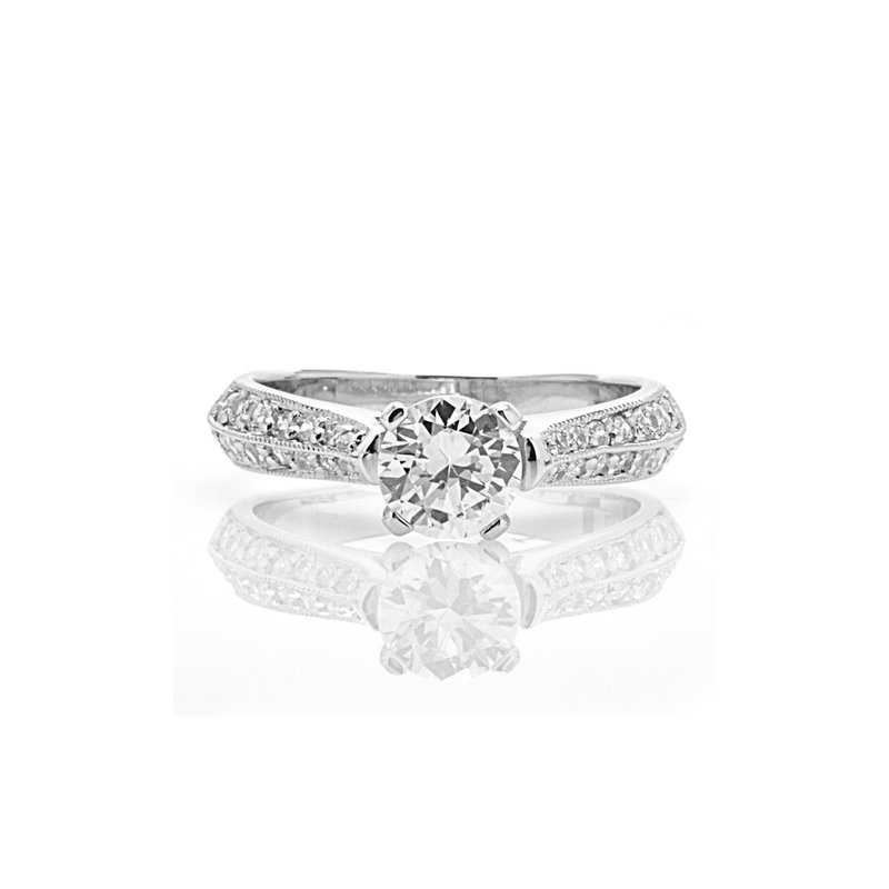 Toodie's Bridal Vintage Inspired Diamond Engagement Ring
