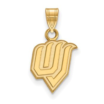 Gold-Plated Sterling Silver Utah Valley State University NCAA Pendant