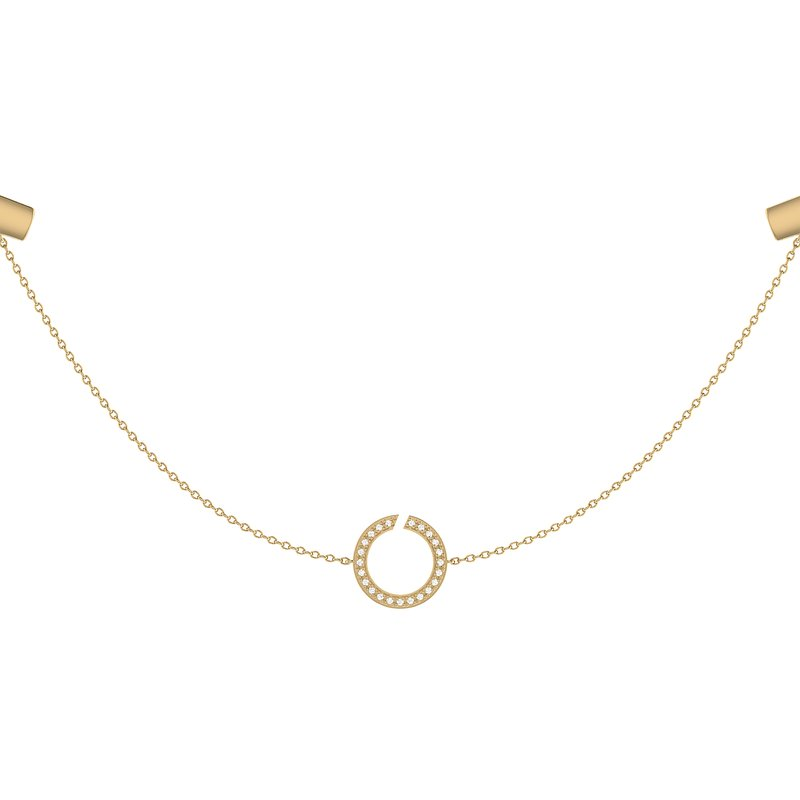 Luv My Jewelry Avani Skyline Necklace in 14 KT Yellow Gold Vermeil on Sterling Silver
