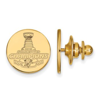 Gold-Plated Sterling Silver Stanley Cup NHL Tie Tac
