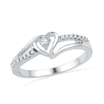 1/5 ctw Black & White Diamond Ring