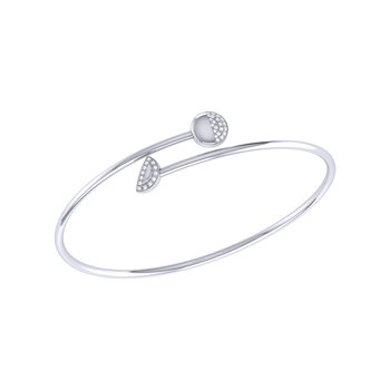 Moon Stages Bangle in Sterling Silver
