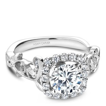 Noam Carver Floral Engagement Ring B151-01A