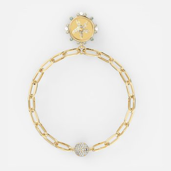 The Elements Star Bracelet, White, Gold-tone plated