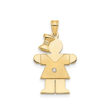 14k AA Diamond Kid Pendant