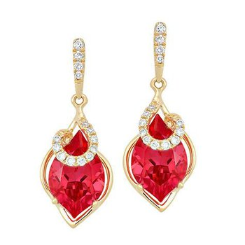 Padparadscha Earrings-CE4145YPD