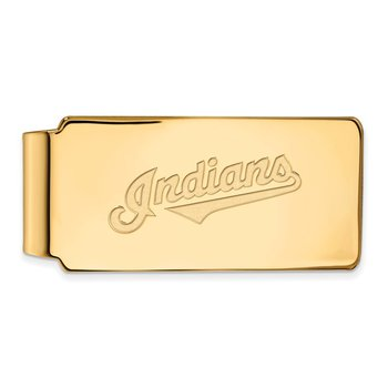 Gold-Plated Sterling Silver Cleveland Indians MLB Money Clip