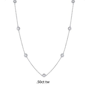 14K Gold Diamond by the Yard Necklace, .50ct tw