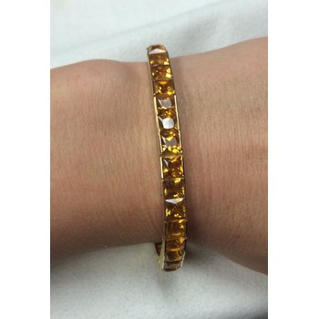 Channel Set Citrine Bracelet