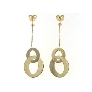 18Kt Gold Round Drop Earrings