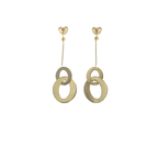 Roberto Coin 18Kt Gold Round Drop Earrings