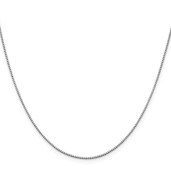 10k White Gold 1mm Box Chain