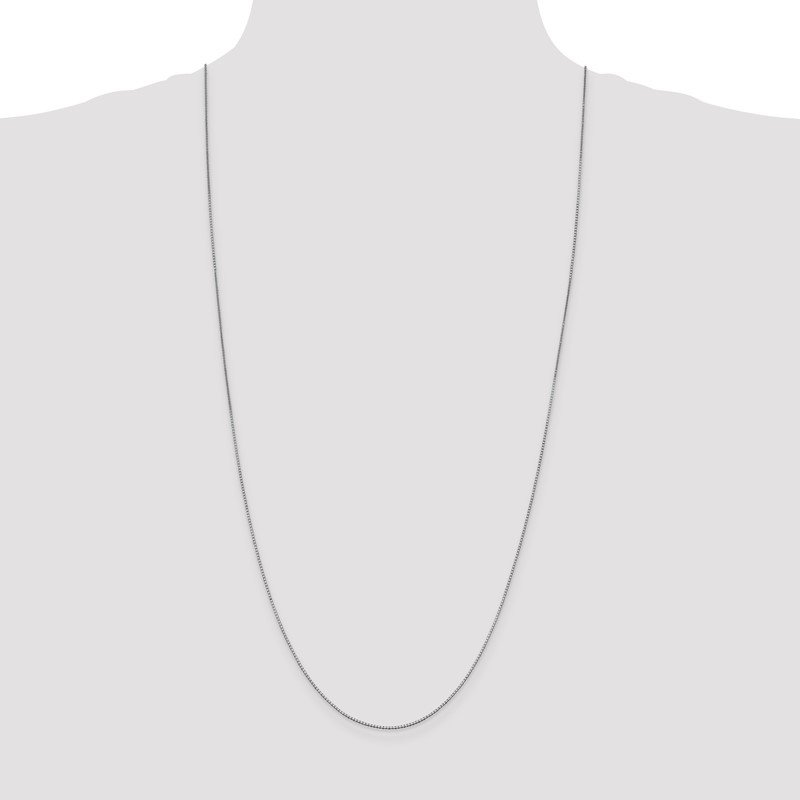 Quality Gold 10k White Gold 1mm Box Chain