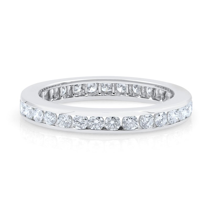 Oscar Heyman Platinum Channel Set Round Diamond Band