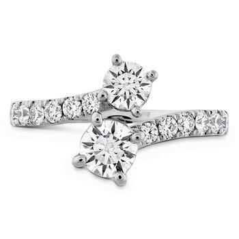 1.2 ctw. HOF Two Diamond Ring - Diamond Band