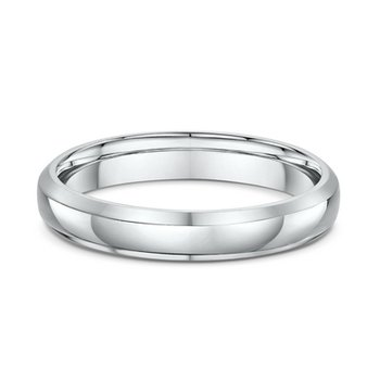 4mm Plain Bevel Dome Wedding Band