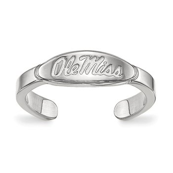 Sterling Silver University of Mississippi NCAA Ring