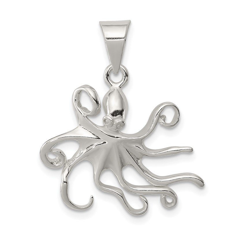 Quality Gold Sterling Silver Octopus Charm