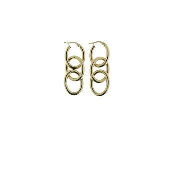 18KT GOLD 3 LOOP EARRINGS
