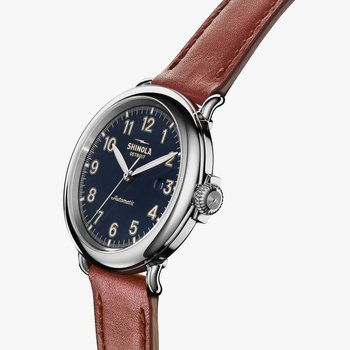 Runwell Automatic 45mm, Dark Cognac Leather Strap