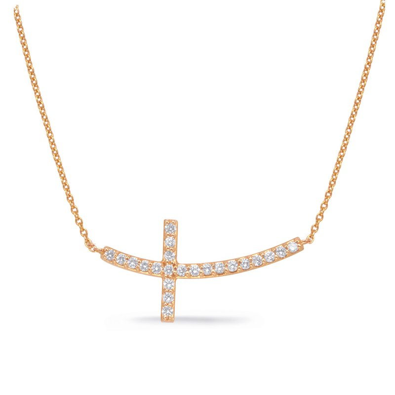 Briana Rose Gold Cross Necklace
