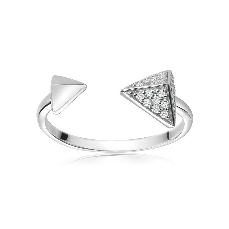 LARUS Jewelry Open Pyramid Ring