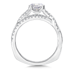 Valina Bridals Mounting with side stones .27 ct. tw., 3/4 ct. round center.