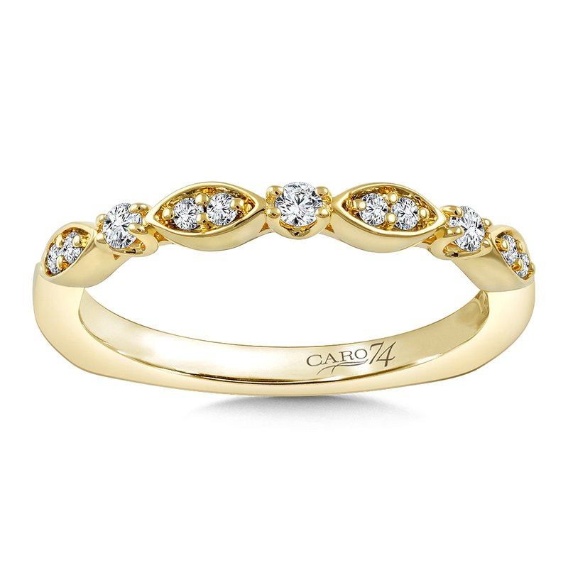 Caro74 Stackable Wedding Band in 14K Yellow Gold (.14 ct. tw.)