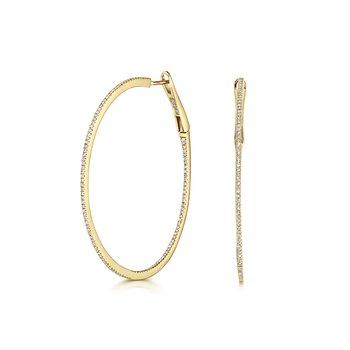 Diamond Hoops 43mm
