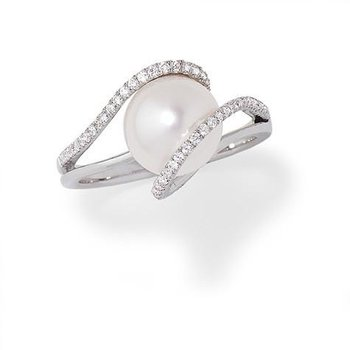 White Pearl Ring-CRP9010WWH
