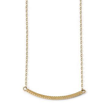 Leslie's 14k Polished Textured Bar Necklace