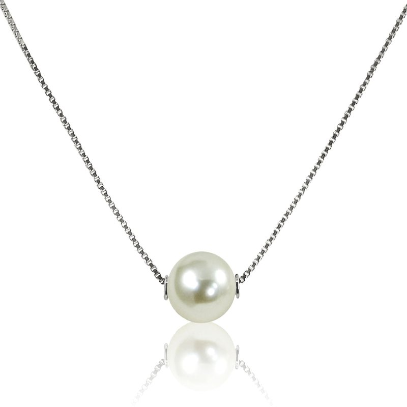 Imperial Pearl 14K White Gold Akoya Pearl Necklace