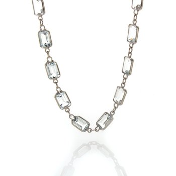 EMERALD CUT GEMSTONE NECKLACES