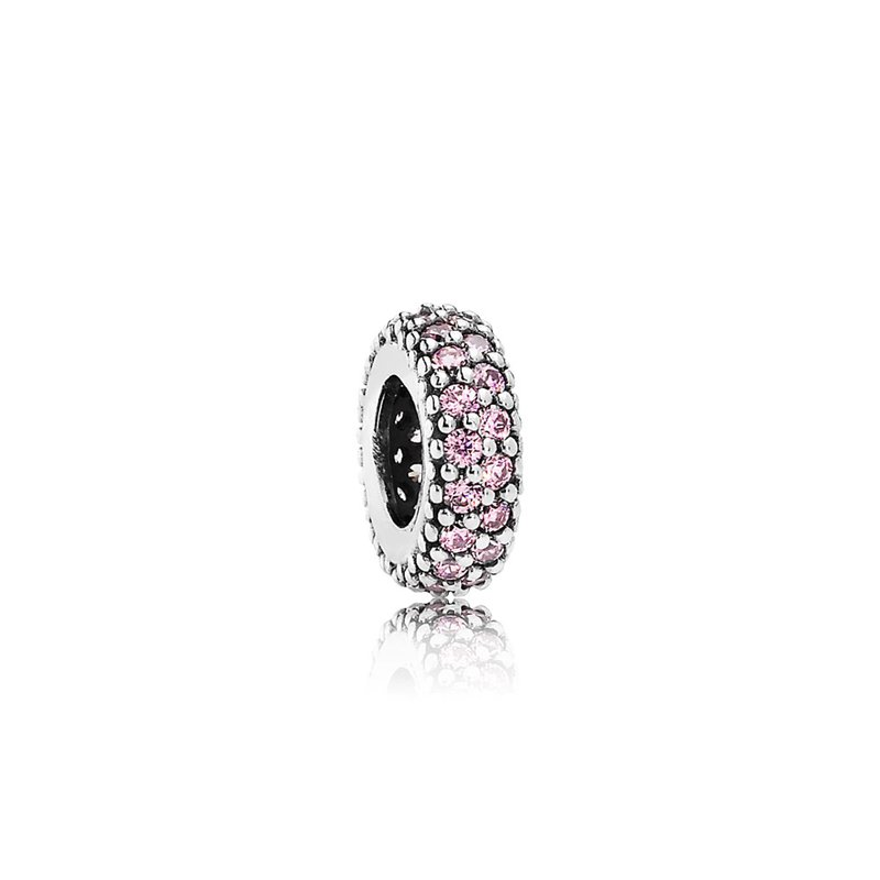 PANDORA Inspiration Within Spacer, Pink Cz