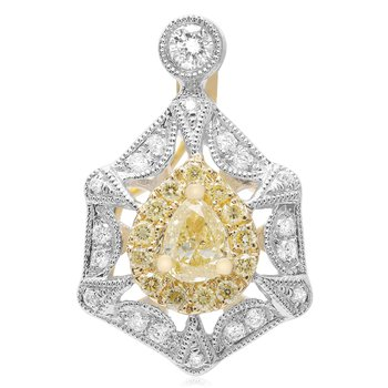 Vintage Yellow Diamond Pendant